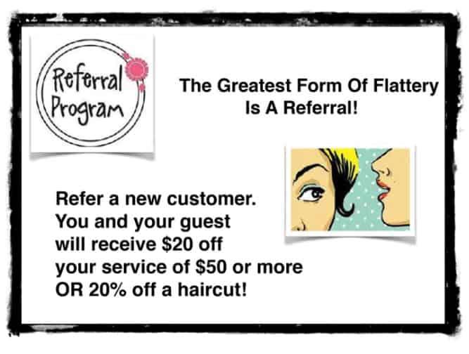 hair salon referral